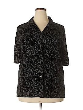 Elisabeth by Liz Claiborne Short Sleeve Button-Down Shirt Size 22 (Plus)