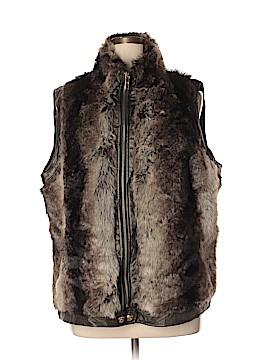 Avenue Faux Fur Vest Size 18 - 20 Plus (Plus)