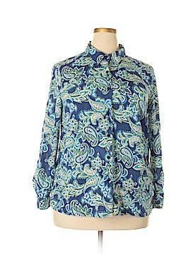 Appleseeds Long Sleeve Button-Down Shirt Size 1X (Plus)