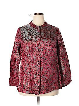 Citron Santa Monica Collection Silk Blazer Size 1X (Plus)
