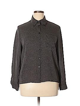 Jones New York Long Sleeve Silk Top Size 14