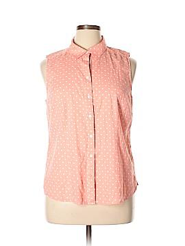 Croft & Barrow Sleeveless Button-Down Shirt Size XXL