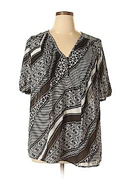 Denim 24/7 Short Sleeve Blouse Size 16 (Plus)