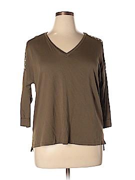 MICHAEL Michael Kors 3/4 Sleeve Top Size 1X (Plus)