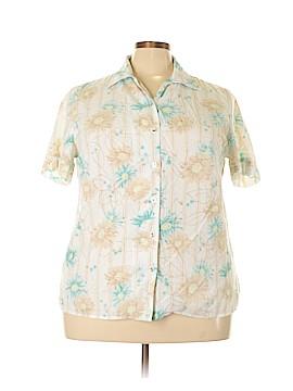 Allison Daley Short Sleeve Button-Down Shirt Size 18W (Plus)