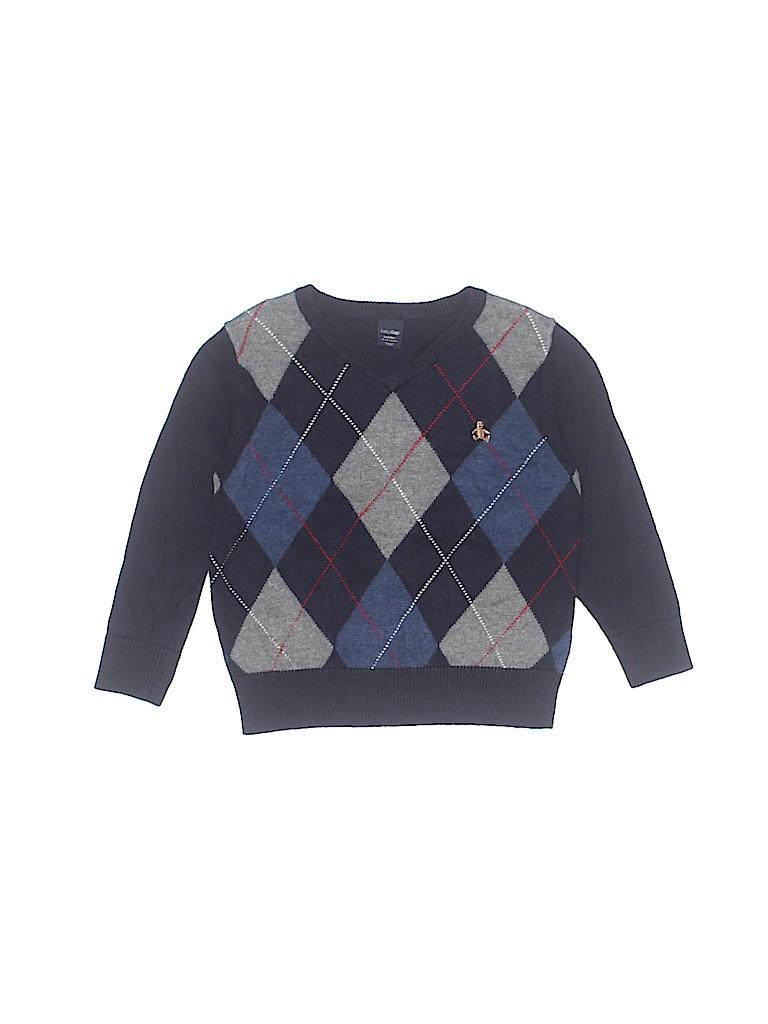 4353e0671 Baby Gap Argyle Navy Blue Pullover Sweater Size 18-24 mo - 51% off ...