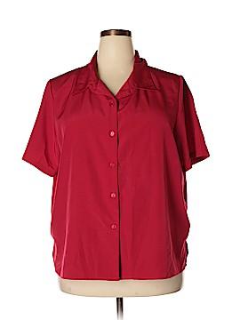Roaman's Short Sleeve Blouse Size 22W (Plus)