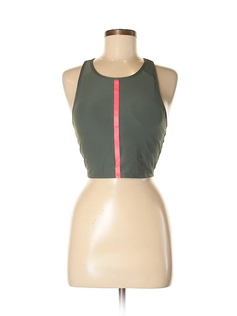 3085a7372bf63 Mondetta Color Block Dark Green Sports Bra Size M - 66% off