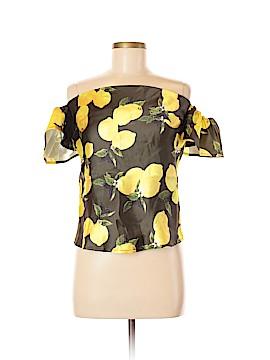 Rosette Short Sleeve Blouse Size M