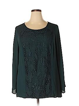 AB Studio Long Sleeve Blouse Size 2X (Plus)