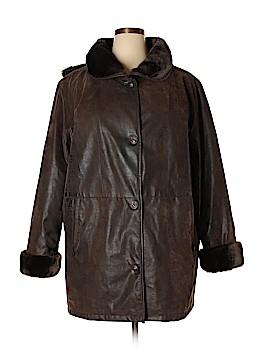 Maggie Barnes Faux Leather Jacket Size 1X (Plus)