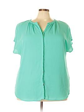 AVA Short Sleeve Blouse Size 2X (Plus)