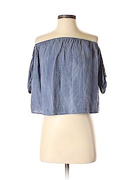Sun & Shadow Short Sleeve Blouse Size S