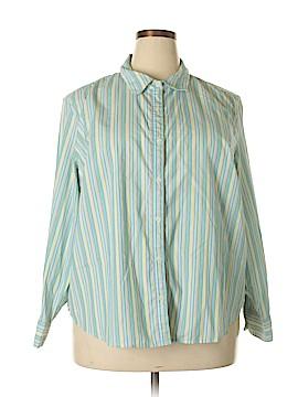 Studio Works Long Sleeve Button-Down Shirt Size 3X (Plus)