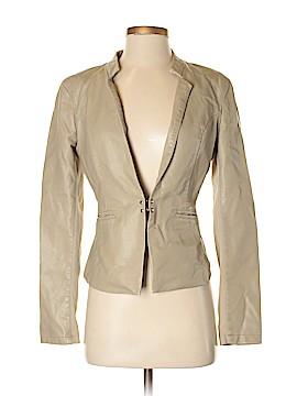 Black Rivet Faux Leather Jacket Size S