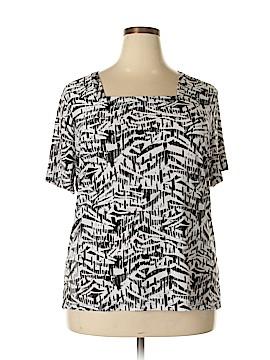 JM Collection Short Sleeve Top Size 2X (Plus)