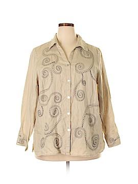 Autograph Long Sleeve Button-Down Shirt Size 2X (Plus)