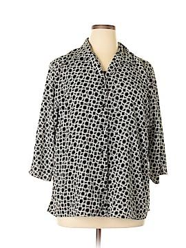 Kim Rogers Signature 3/4 Sleeve Blouse Size 1X (Plus)