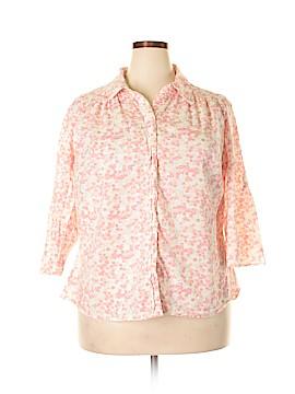 St. John's Bay Long Sleeve Button-Down Shirt Size 1X (Plus)