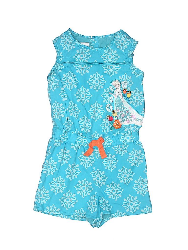 b7b68993b8e Disney 100% Cotton Graphic Blue Romper Size 3T - 64% off