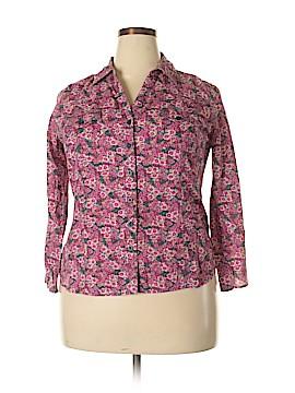 Faith 21 Long Sleeve Button-Down Shirt Size 1X (Plus)