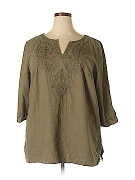 Cambridge Dry Goods 3/4 Sleeve Blouse Size 3X (Plus)