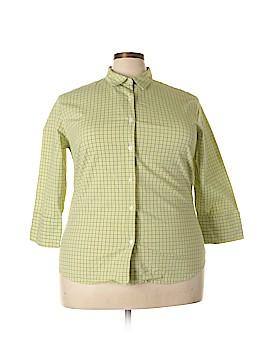 Genuine Sonoma Jean Company 3/4 Sleeve Button-Down Shirt Size 2X (Plus)