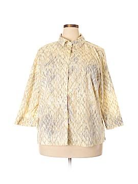 Studio Works Long Sleeve Button-Down Shirt Size 2X (Plus)