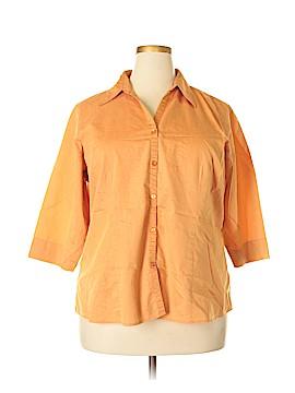 Venezia 3/4 Sleeve Button-Down Shirt Size 18 (Plus)