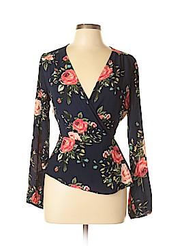 Monteau Long Sleeve Blouse Size L