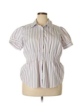 Fashion Bug Short Sleeve Button-Down Shirt Size 18 - 20W (Plus)
