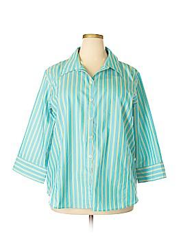 Liz Claiborne 3/4 Sleeve Button-Down Shirt Size 20 (Plus)