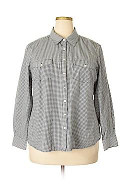 Dalia Collection Long Sleeve Button-Down Shirt Size 2X (Plus)