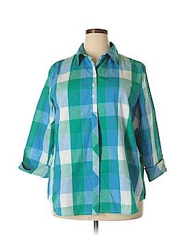 Allison Daley 3/4 Sleeve Button-Down Shirt Size 20 (Plus)
