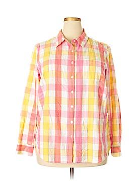 Kim Rogers Long Sleeve Button-Down Shirt Size 2X (Plus)
