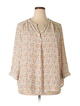 Dalia 3/4 Sleeve Blouse Size 2X (Plus)