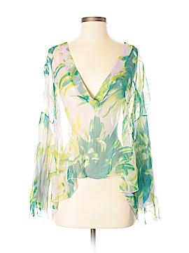 Just Cavalli Long Sleeve Silk Top Size 40 (IT)