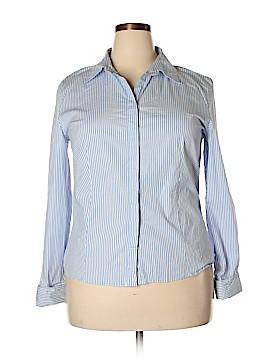 Chadwicks Long Sleeve Button-Down Shirt Size 18 (Plus)