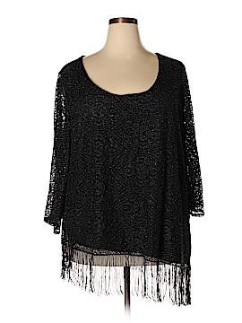 Melissa Paige 3/4 Sleeve Blouse Size 3X (Plus)