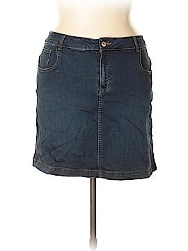 Faded Glory Denim Skirt Size 14