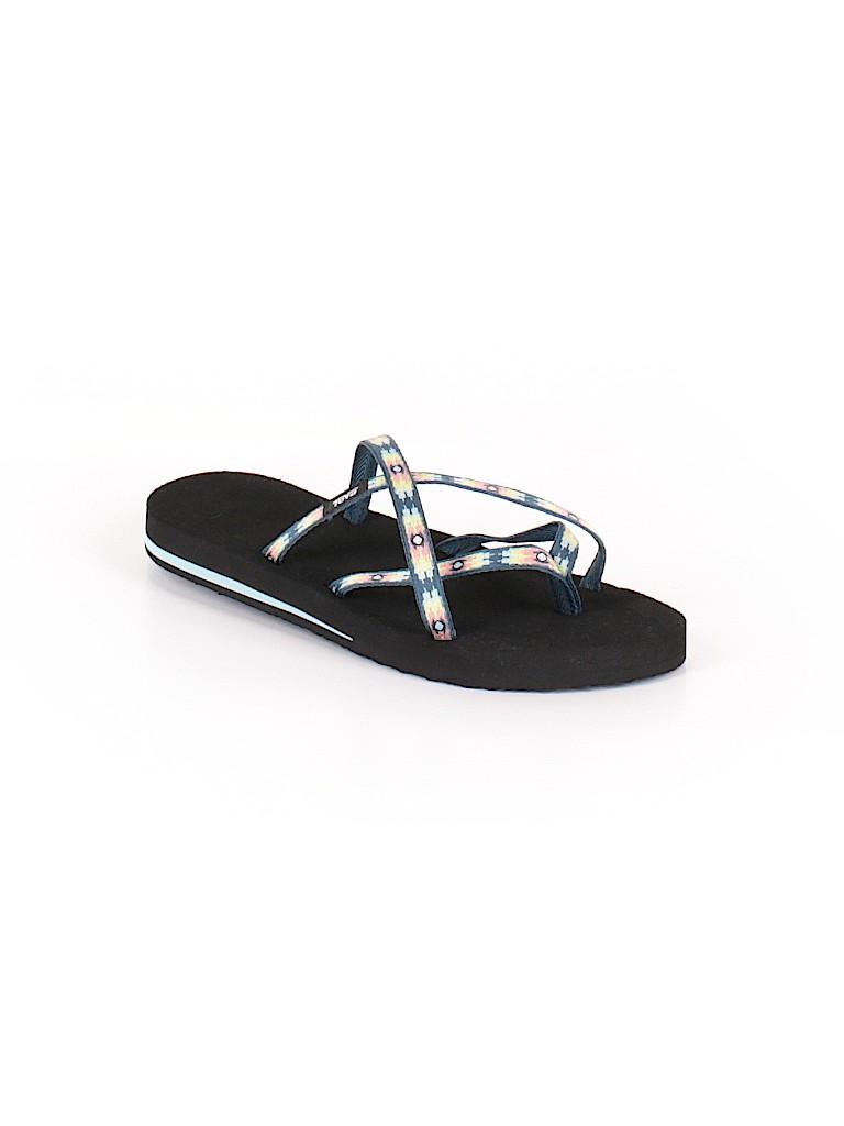 26384823629c Teva Print Dark Blue Flip Flops Size 9 - 52% off