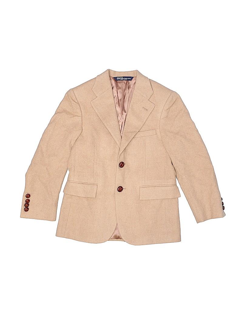 53e907e499a2 Polo by Ralph Lauren 100% Camel Hair Solid Tan Wool Blazer Size 10 ...