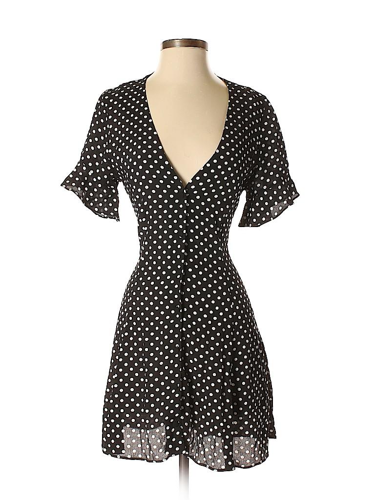 0d6db19e1f0 Zara 100% Viscose Polka Dots Black Casual Dress Size S - 39% off ...