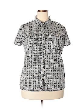 Jaclyn Smith Short Sleeve Button-Down Shirt Size XXL