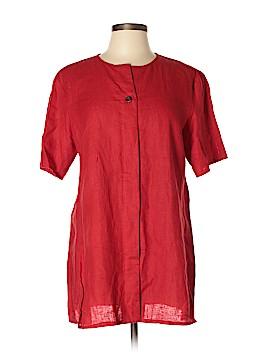 Harve Benard by Benard Holtzman Short Sleeve Blouse Size L