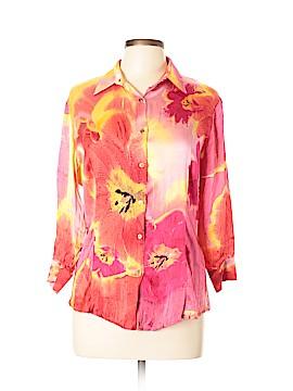 Roberto Cavalli 3/4 Sleeve Silk Top Size L