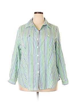 Alia Long Sleeve Button-Down Shirt Size 20 (Plus)