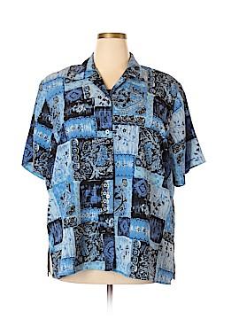Notations Short Sleeve Button-Down Shirt Size 3X (Plus)