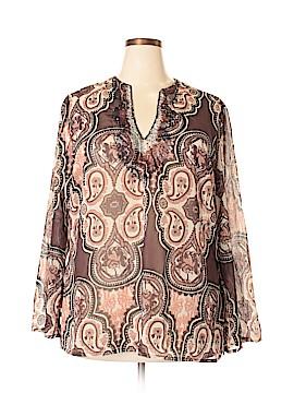 Millenium Long Sleeve Blouse Size 18 (Plus)