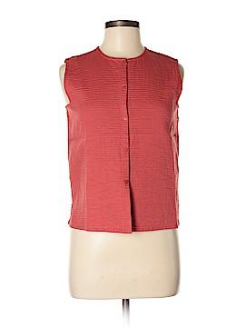 Eileen Fisher Sleeveless Button-Down Shirt Size XS